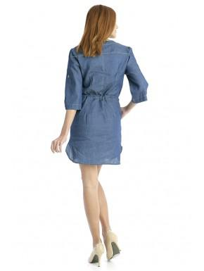Jeans Dress With Strap In the Middle