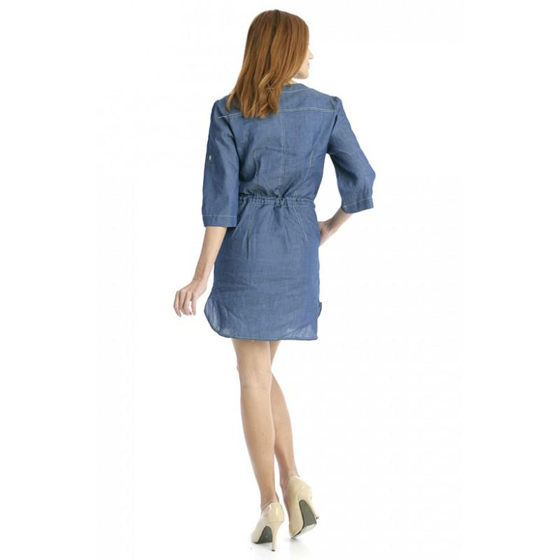 30ce2bae06 ... Jeans Dress With Strap In the Middle ...