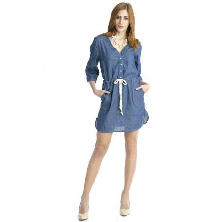 4dd73a6f93 Jeans Dress With Strap In the Middle